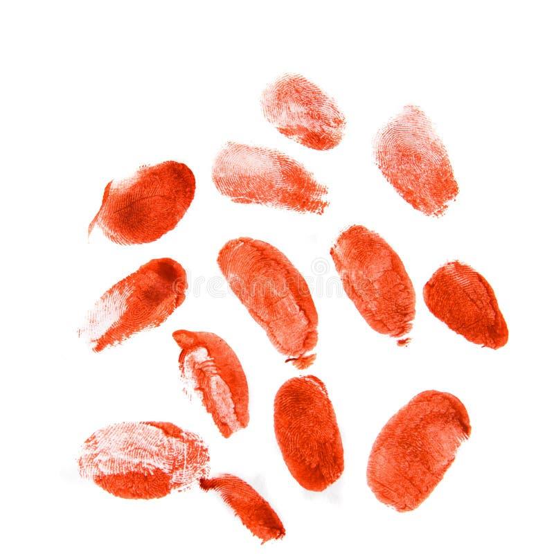 Δακτυλικά αποτυπώματα Bloodly στοκ εικόνες
