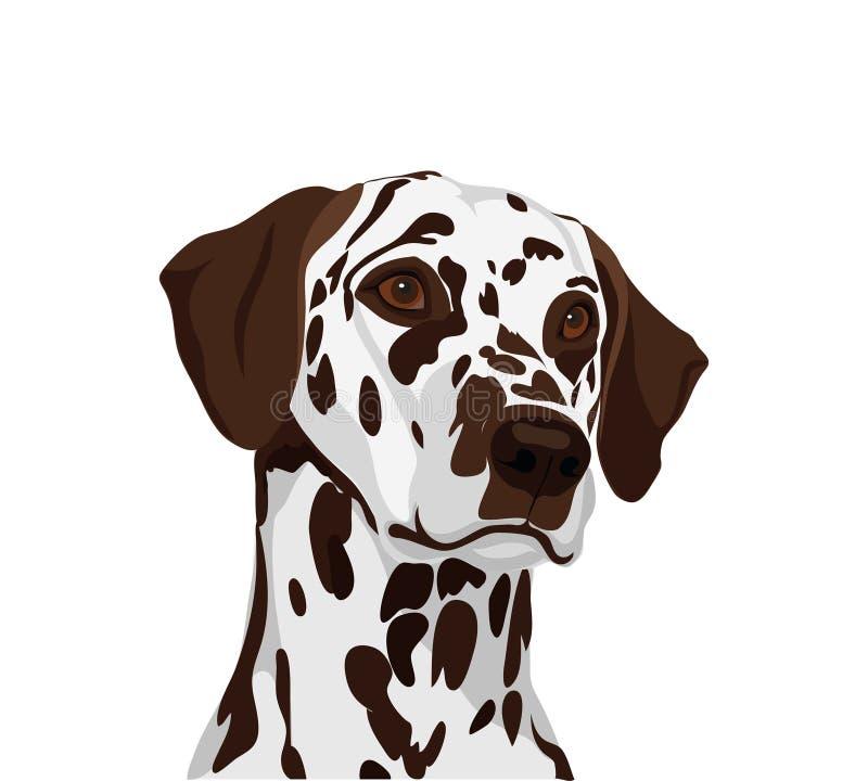 Δαλματικά σκυλιά Σύμβολο του έτους 2018 διάνυσμα απεικόνιση αποθεμάτων