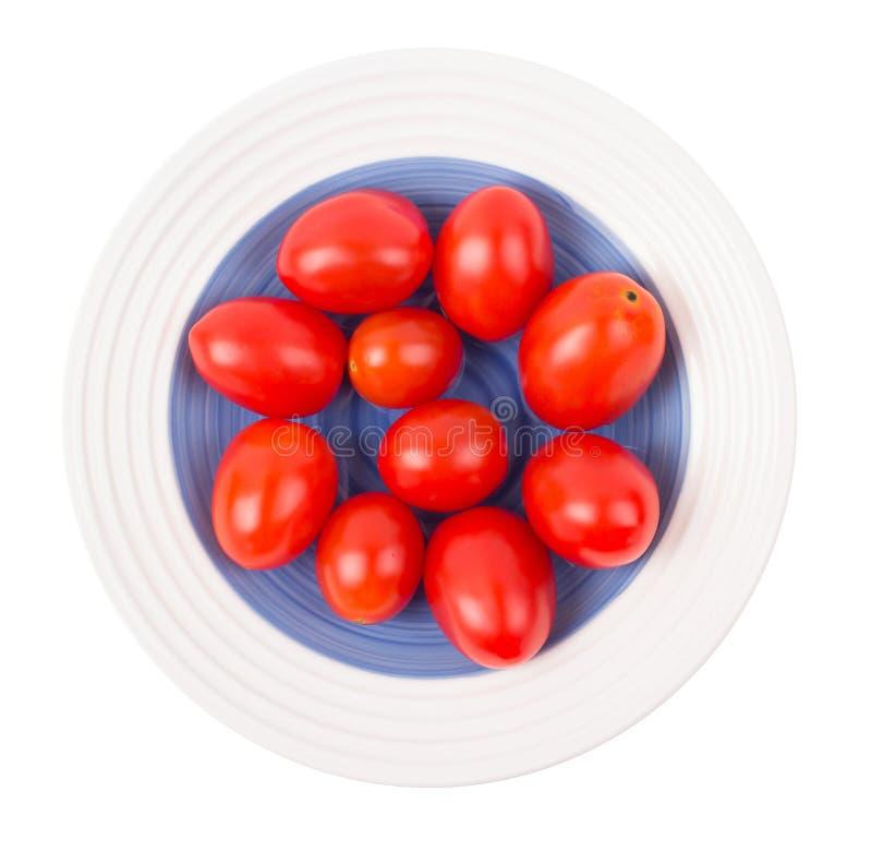 Δαμάσκηνο ντοματών που διαμορφώνεται σε ένα πιάτο στοκ εικόνες