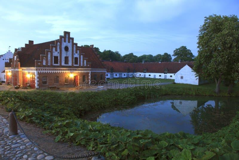 Δανία, Odsherred, Horve, κάστρο Dragsholm στοκ φωτογραφία