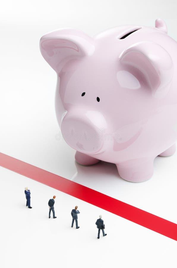 Δανεισμός κωλυμάτων και επιχειρήσεων στοκ εικόνα