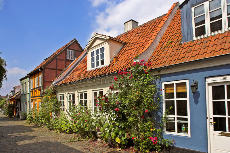 δανικά σπίτια στοκ φωτογραφία