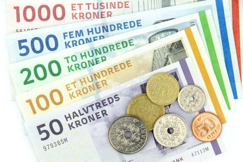 Δανικές κορώνες (DKK), στοκ φωτογραφίες