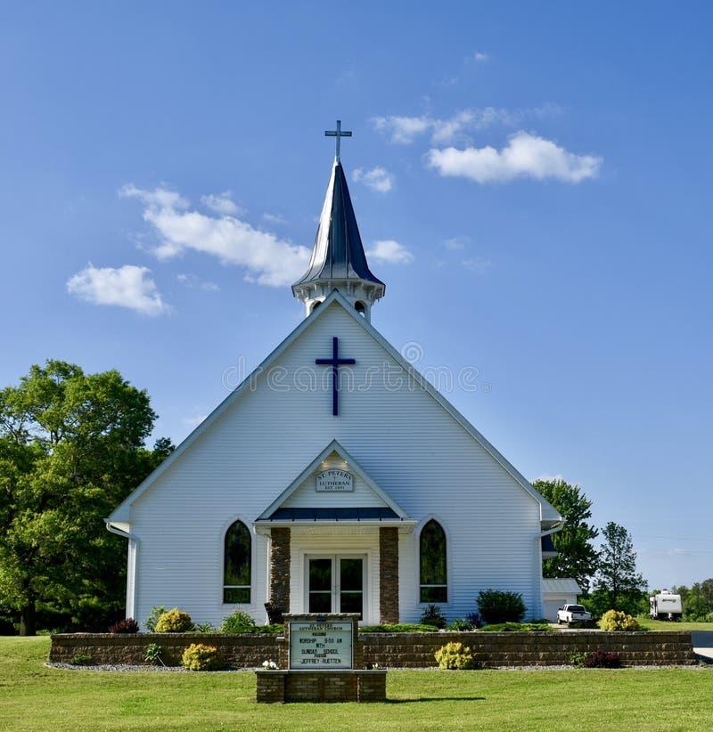 Δανική λουθηρανική εκκλησία του ST Peter στοκ φωτογραφία