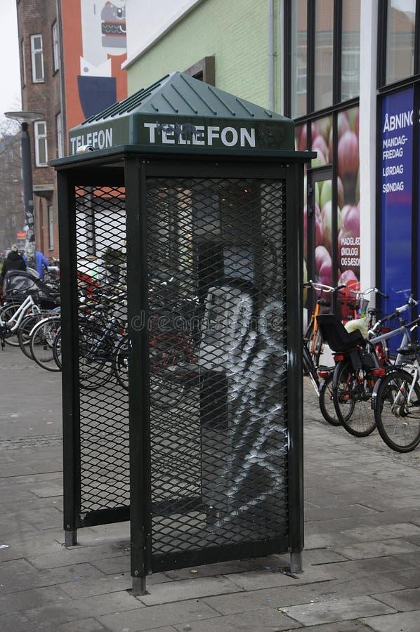 ΔΑΝΙΚΟΣ ΘΆΛΑΜΟΣ ΣΧΕΔΙΟΥ TELEFON στοκ εικόνες