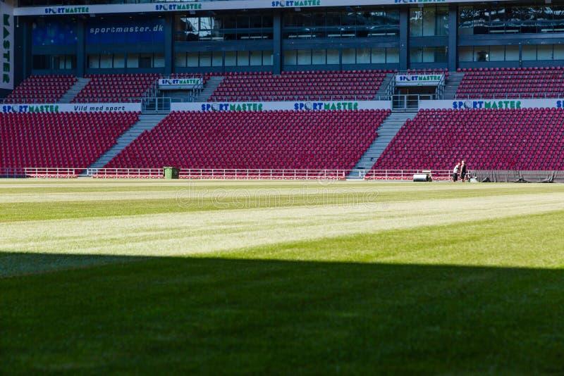 Δανικό εθνικό στάδιο Parken ποδοσφαίρου στοκ φωτογραφίες με δικαίωμα ελεύθερης χρήσης