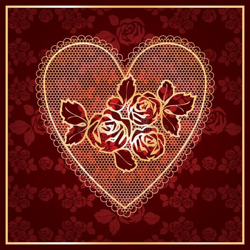 δαντέλλα καρδιών απεικόνιση αποθεμάτων