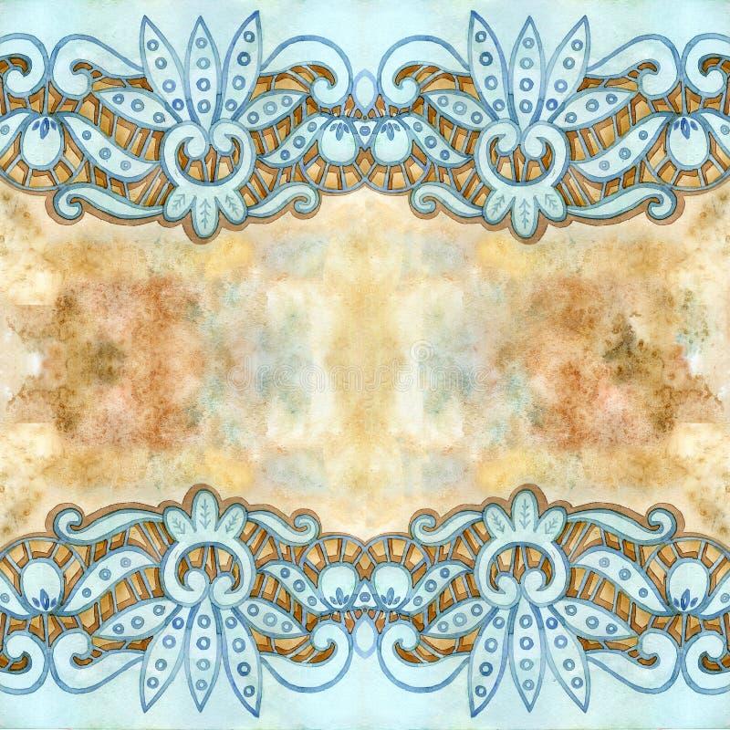 Δαντελλωτός κομψά σύνορα watercolor Δαντελλωτός εκλεκτής ποιότητας περιποίηση Το χέρι σύρει την απεικόνιση στοκ εικόνες με δικαίωμα ελεύθερης χρήσης