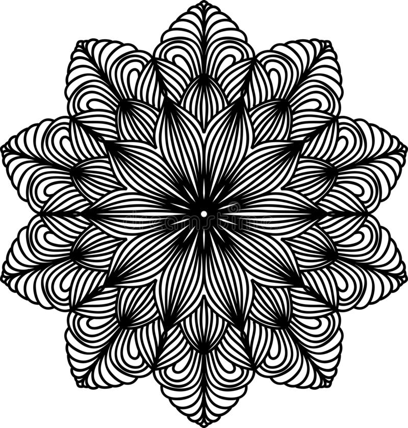 Δαντελλωτός mandala Εκλεκτής ποιότητας διακοσμητικό στοιχείο Ασιατικό πρότυπο ελεύθερη απεικόνιση δικαιώματος