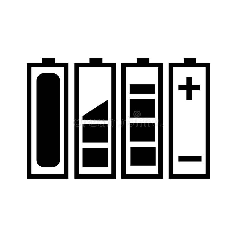 Δαπάνη μπαταριών διανυσματική απεικόνιση