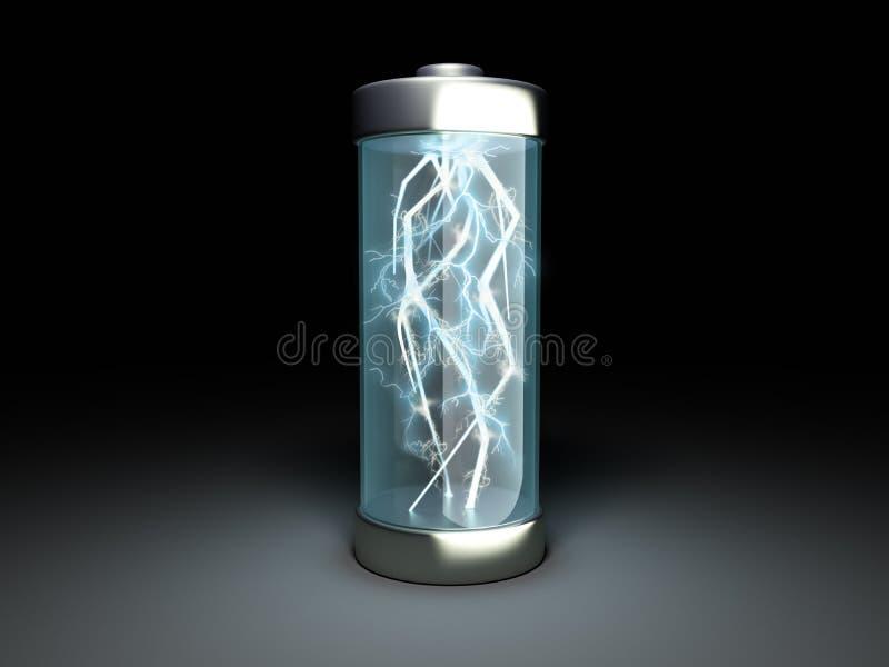 Δαπάνη μπαταριών φόρτισης μπαταριών στη μαύρη τρισδιάστατη απεικόνιση απεικόνιση αποθεμάτων