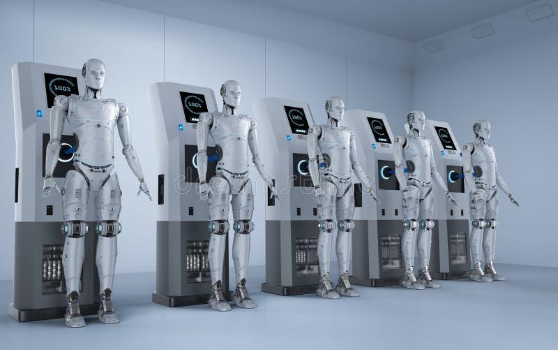 Δαπάνη ρομπότ στο σταθμό απεικόνιση αποθεμάτων