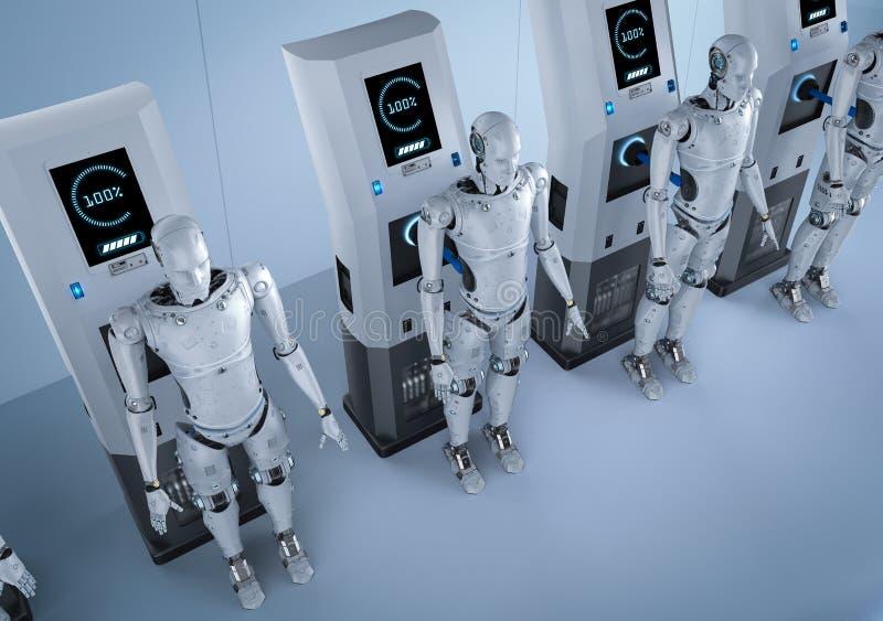 Δαπάνη ρομπότ στο σταθμό ελεύθερη απεικόνιση δικαιώματος