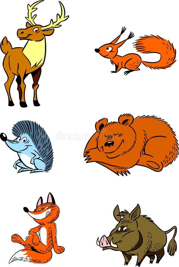 Δασικά ζώα ελεύθερη απεικόνιση δικαιώματος