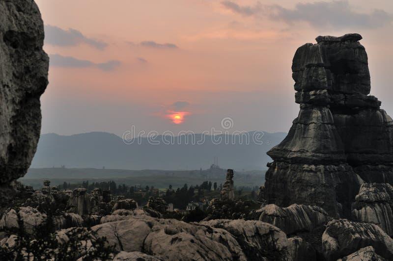 δασική πέτρα της Κίνας στοκ εικόνα