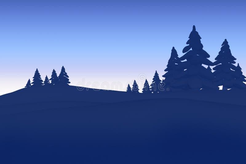 Δασική σκιαγραφία δέντρων του FIR απεικόνιση αποθεμάτων