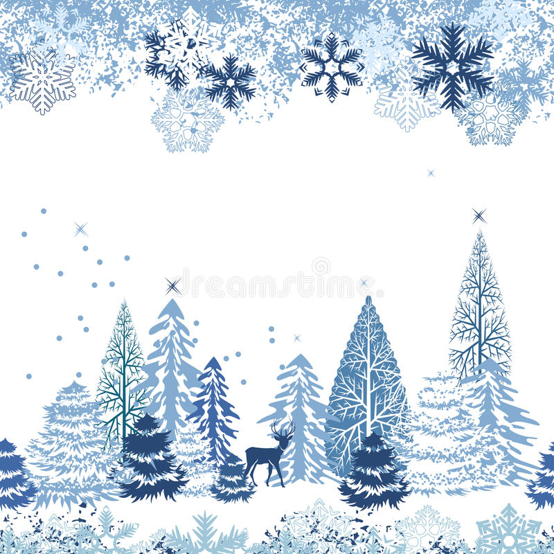 δασικός άνευ ραφής χειμών&alpha διανυσματική απεικόνιση