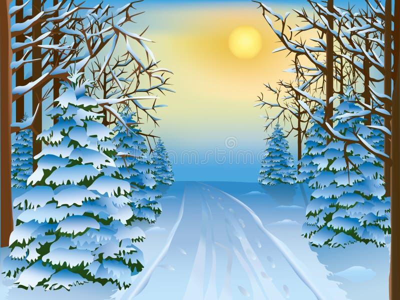 δασικός χειμώνας ελεύθερη απεικόνιση δικαιώματος