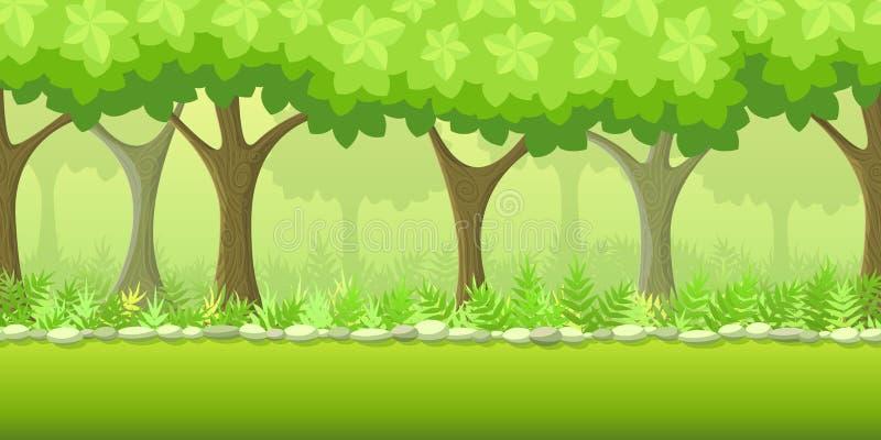 Δασικό υπόβαθρο παιχνιδιών διανυσματική απεικόνιση
