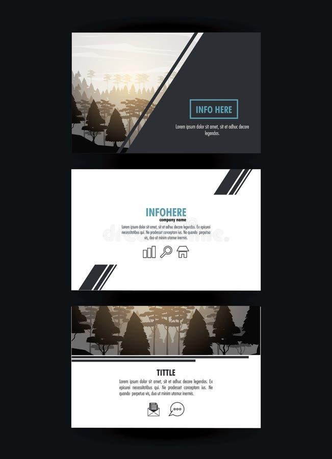 Δασικό φυλλάδιο infographic διανυσματική απεικόνιση