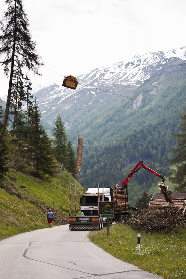 Δασονομία στην κοιλάδα Tyroler Koednitz, Αυστρία στοκ εικόνα