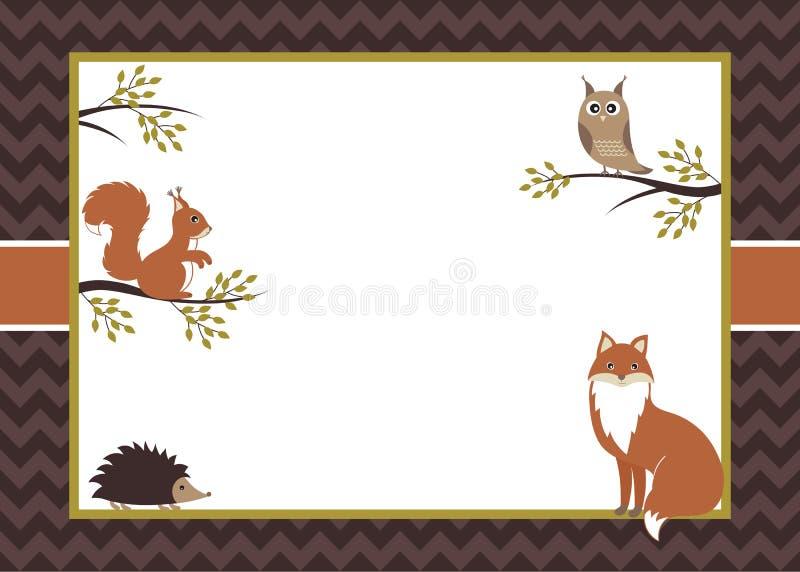Δασόβια κάρτα διανυσματική απεικόνιση
