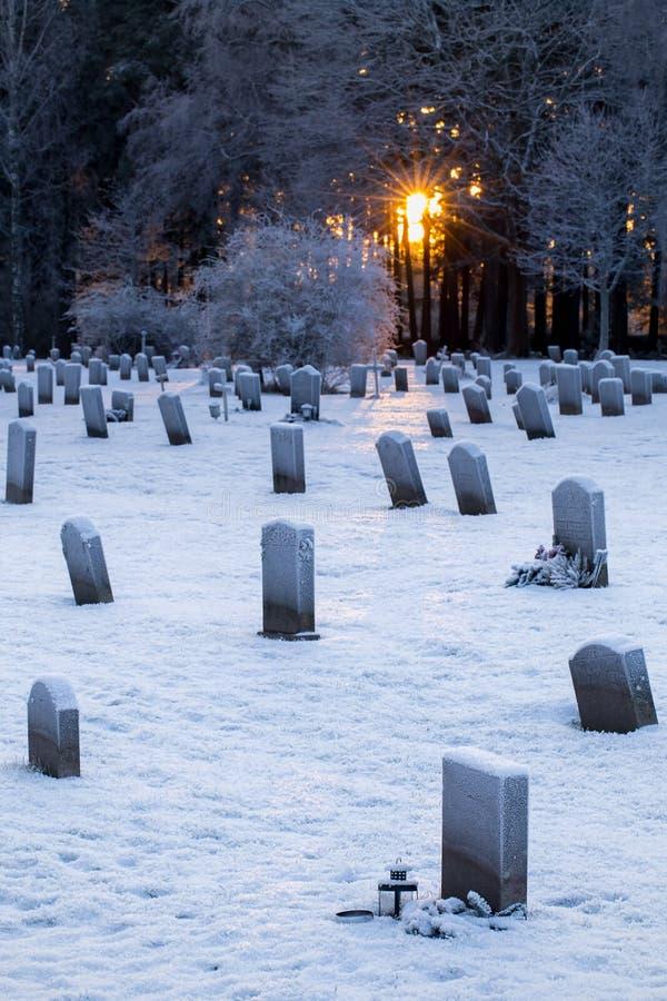 Δασόβιο νεκροταφείο στη Στοκχόλμη, Σουηδία στοκ εικόνα