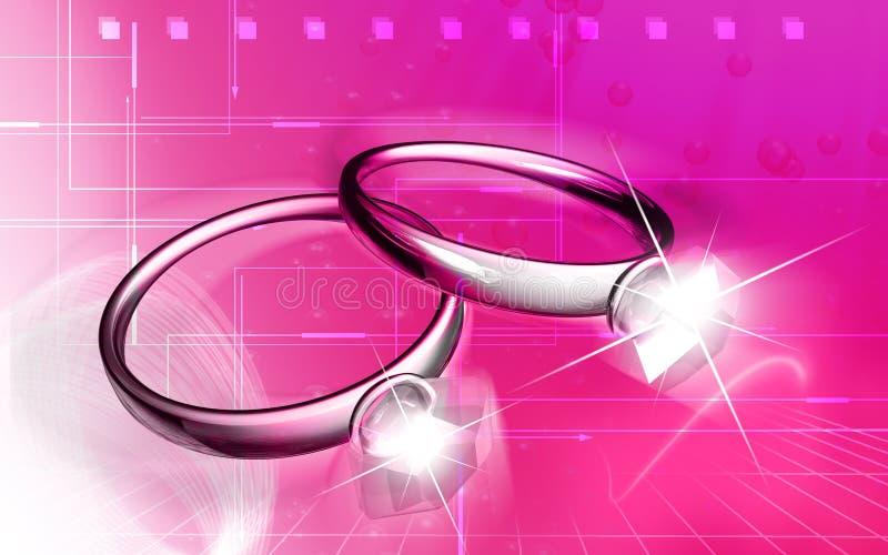 δαχτυλίδια διαμαντιών διανυσματική απεικόνιση