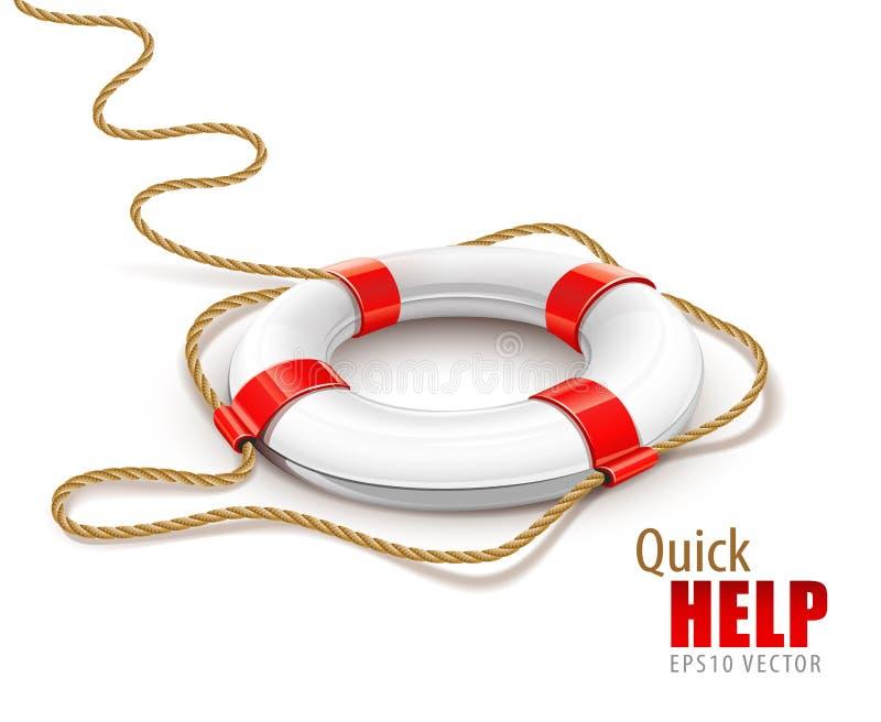 Δαχτυλίδι διάσωσης για τις γρήγορες οδηγίες ελεύθερη απεικόνιση δικαιώματος