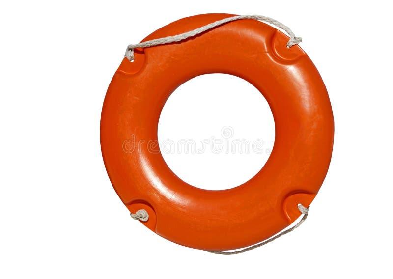 Δαχτυλίδι διάσωσης στο λευκό στοκ εικόνες