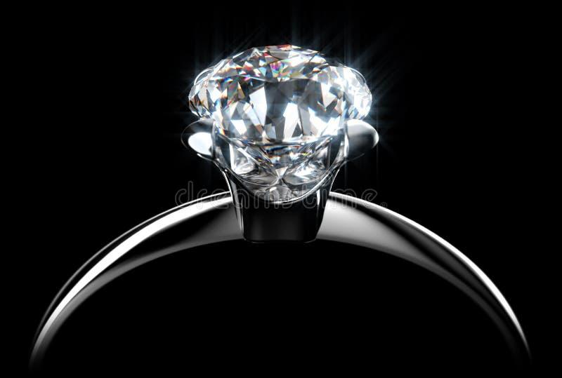 δαχτυλίδι διαμαντιών ελεύθερη απεικόνιση δικαιώματος