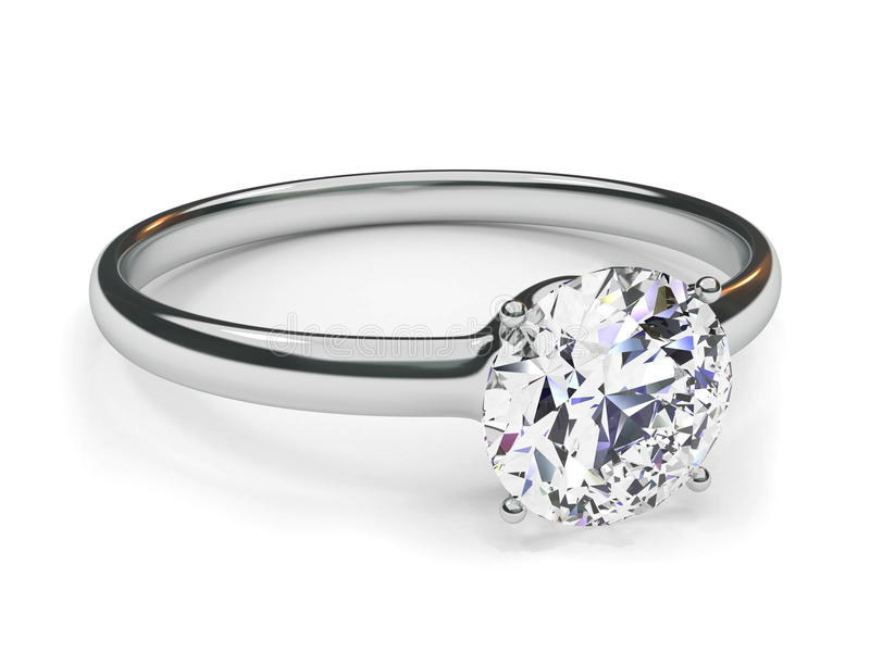 δαχτυλίδι διαμαντιών διανυσματική απεικόνιση