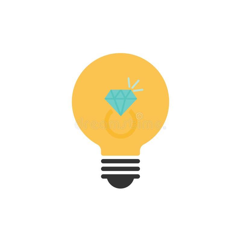 Δαχτυλίδι λαμπών φωτός και διαμαντιών, έννοια ιδέας διανυσματική απεικόνιση