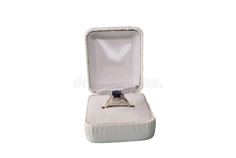 Δαχτυλίδι σαπφείρου στοκ φωτογραφία με δικαίωμα ελεύθερης χρήσης
