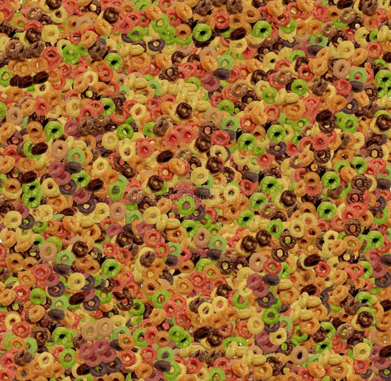 Δαχτυλίδια νιφάδων καλαμποκιού που χρωματίζονται στοκ εικόνες