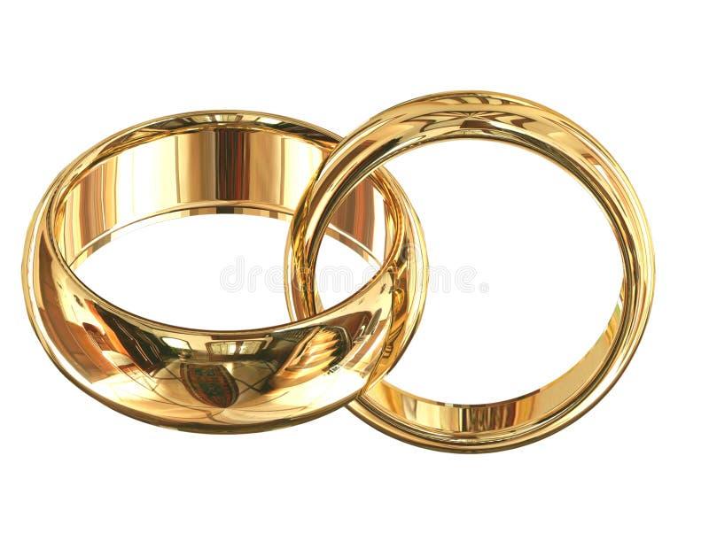 Δαχτυλίδια που απομονώνονται γαμήλια στοκ φωτογραφία με δικαίωμα ελεύθερης χρήσης