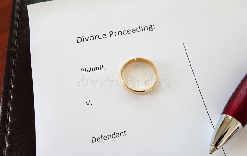 Δαχτυλίδι διαζυγίου στοκ φωτογραφία