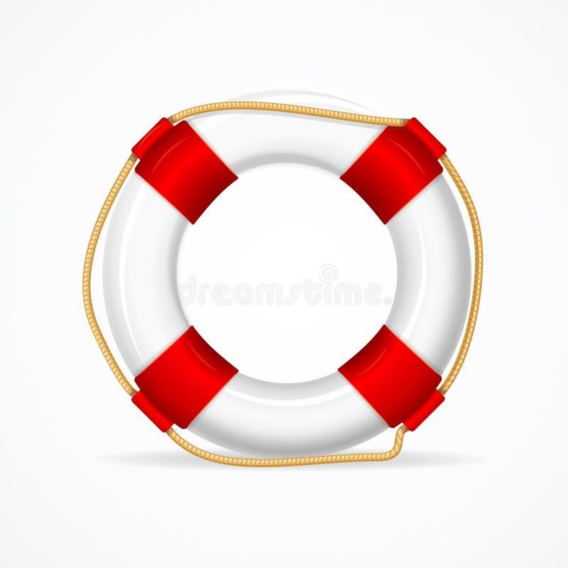 Δαχτυλίδι σημαντήρων ζωής διάνυσμα ελεύθερη απεικόνιση δικαιώματος