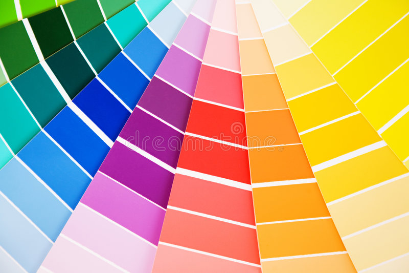 δείγματα οδηγών χρώματος στοκ φωτογραφία με δικαίωμα ελεύθερης χρήσης