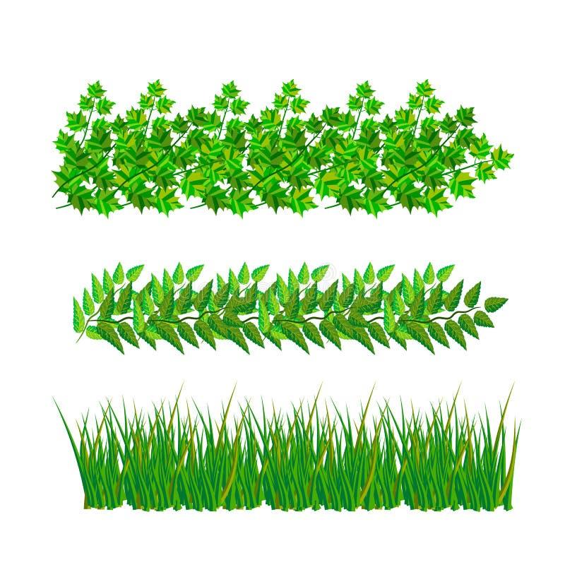 Δείγματα των πράσινων φύλλων με το διανυσματικό σχήμα ελεύθερη απεικόνιση δικαιώματος
