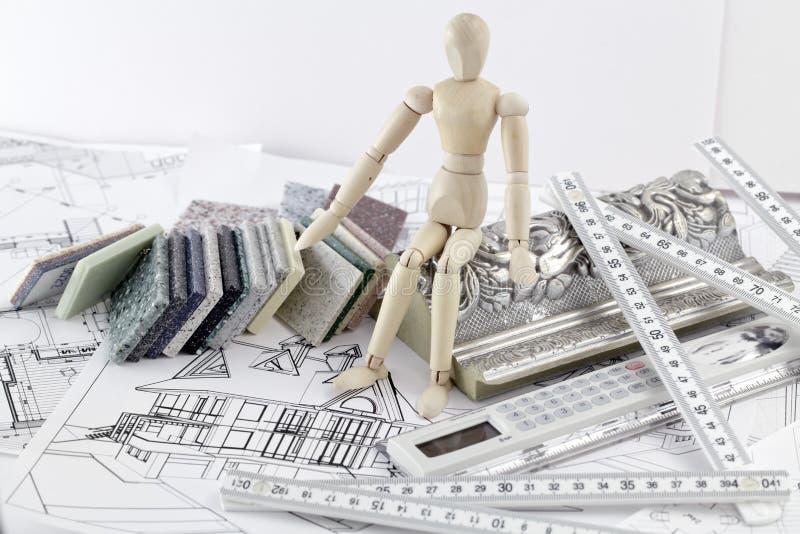 δείγματα υλικών ατόμων χρώμ&a στοκ φωτογραφία με δικαίωμα ελεύθερης χρήσης
