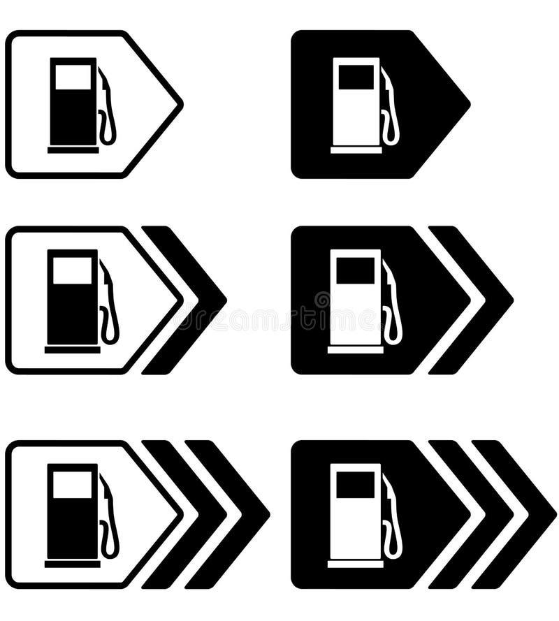Δείκτες βενζινάδικων με το βέλος απεικόνιση αποθεμάτων