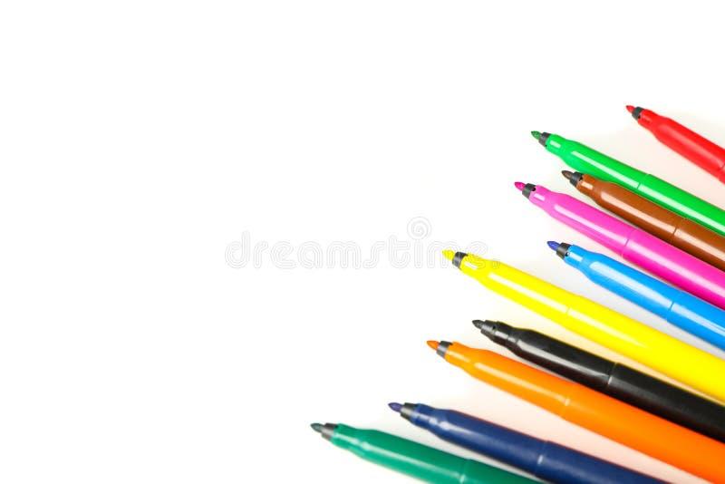 Δείκτες χρώματος που απομονώνονται στοκ εικόνα