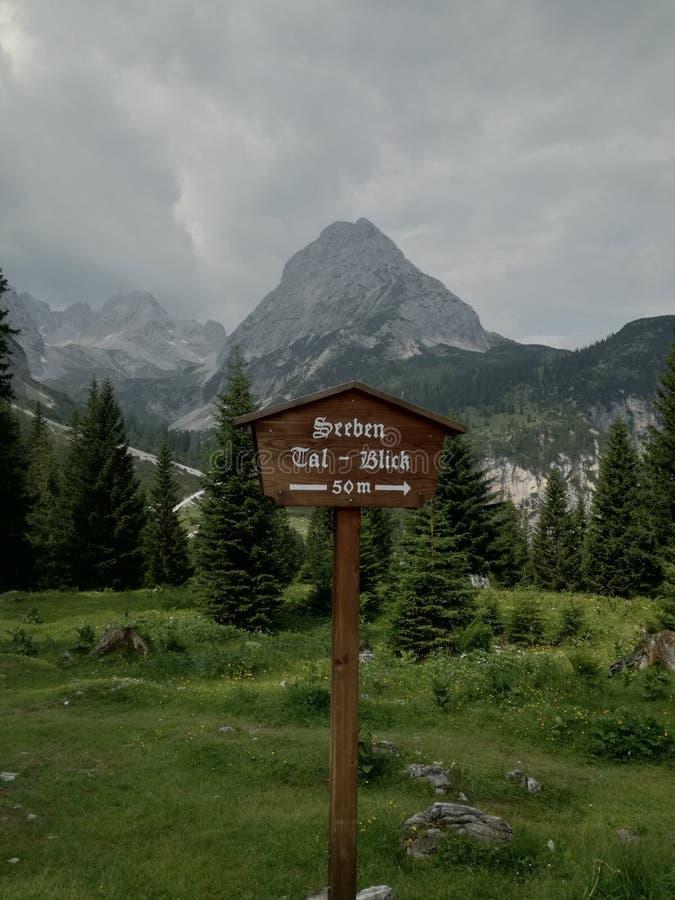 Δείκτης βουνών στοκ εικόνες