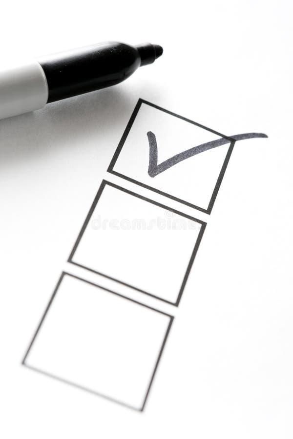 δείκτης καταλόγων ελέγχ&om στοκ εικόνα με δικαίωμα ελεύθερης χρήσης