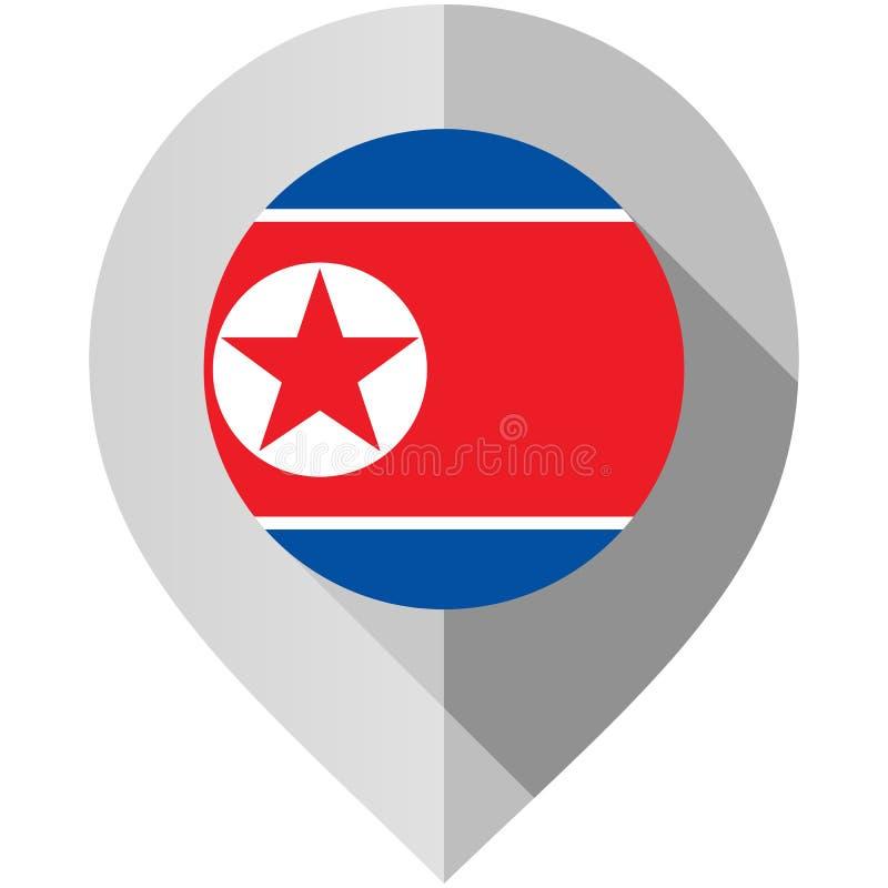 Δείκτης με τη σημαία για το χάρτη ελεύθερη απεικόνιση δικαιώματος