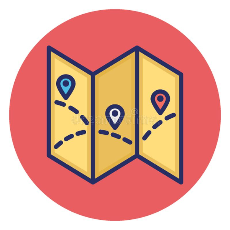 Δείκτης χαρτών, διανυσματικό εικονίδιο ναυσιπλοΐας χαρτών που μπορεί εύκολα να εκδώσει ελεύθερη απεικόνιση δικαιώματος