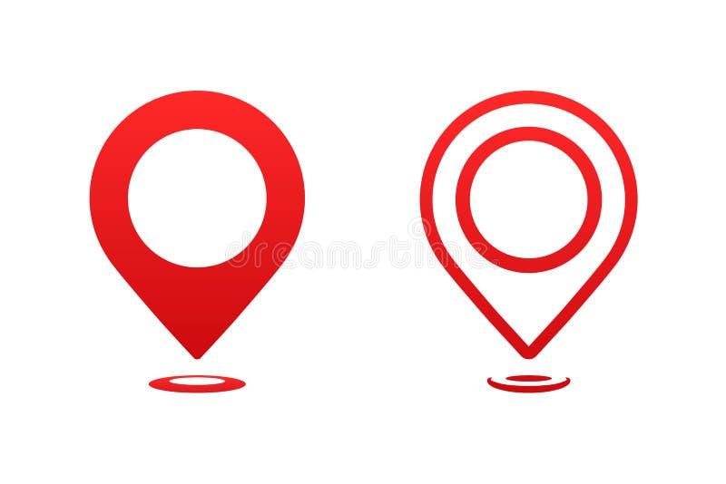 Δείκτης χαρτών εικονιδίων Δείκτης καρφιτσών δεικτών για τη διανυσματική απεικόνιση θέσεων ταξιδιού διανυσματική απεικόνιση