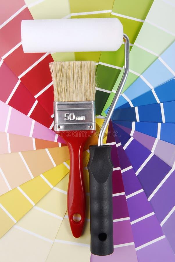 Δειγματοληπτική συσκευή οδηγών χρώματος στοκ φωτογραφία με δικαίωμα ελεύθερης χρήσης