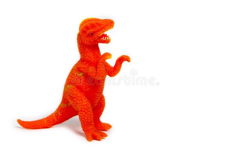 δεινόσαυροι παιχνιδιών σε ένα απομονωμένο άσπρο υπόβαθρο στοκ εικόνα